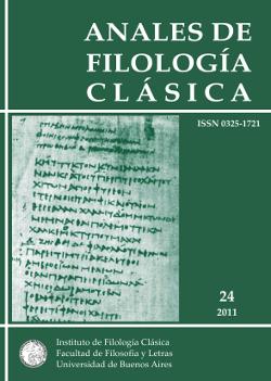 Anales de Filología Clásica 24 (2011)