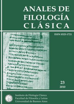 Anales de Filología Clásica 23 (2010)