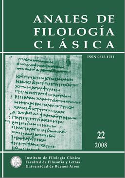 Anales de Filología Clásica 22 (2009)