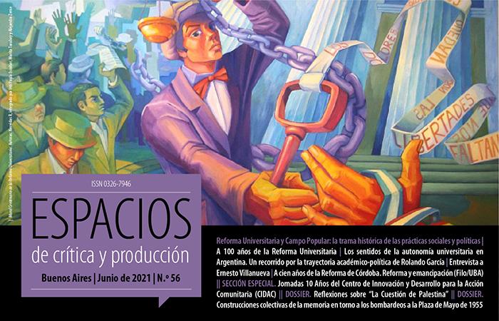 Portada de la Edición Número 56 de la Revista Espacios de Crítica y Producción
