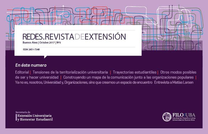 La imagen muestra la portada del número 3 de la Revista Redes de Extensión
