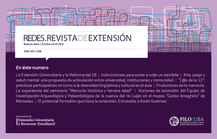 La imagen muestra la Portada de la Edición Número 4 de la Revista Redes de Extensión.