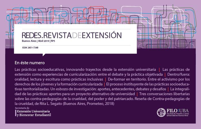 Portada de la Edición Número 5 de la Revista Redes de Extensión.
